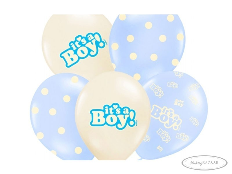 Balony 14 It's a boy 6 szt.