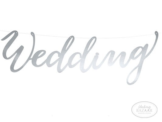 Baner srebrny Wedding