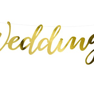 Baner złoty Wedding